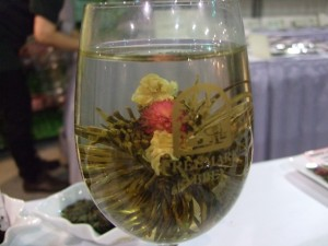 """(Liquid in this photo is cool water, used for displaying the """"bloom."""")"""