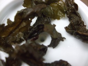 Infused leaves from the traditional Ti Kuan Yin